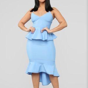 Maylie Bandage Midi Dress - Light Blue